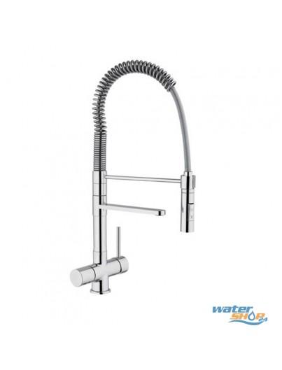 Bella - Schwenkbarer Designer Spiralfeder-3-Wege-Wasserhahn