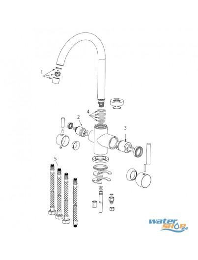Monza 4-Wege-Wasserhahn - HYDRON geeignet