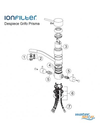 Elan 4-Wege-Wasserhahn - HYDRON geeignet