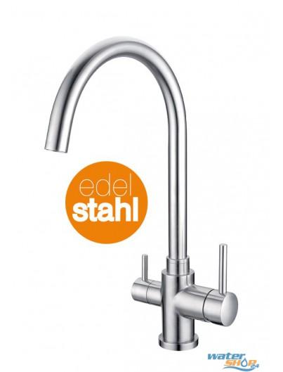 ELBA Edelstahl 3-Wege Wasserhahn